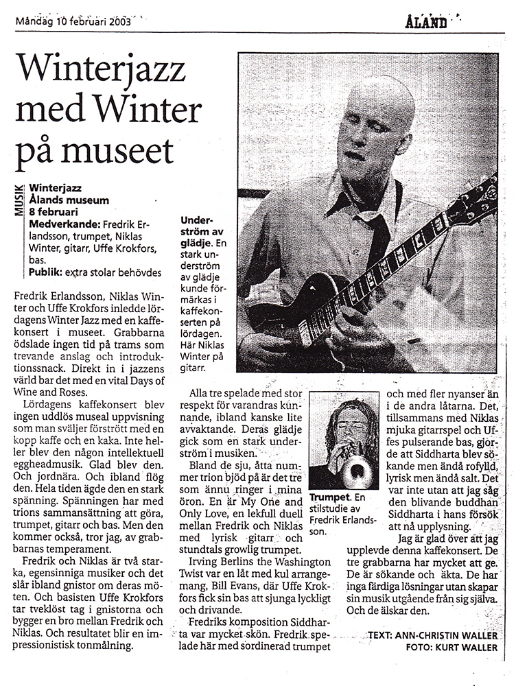 Niklas Winter Trio (Åland 2003)